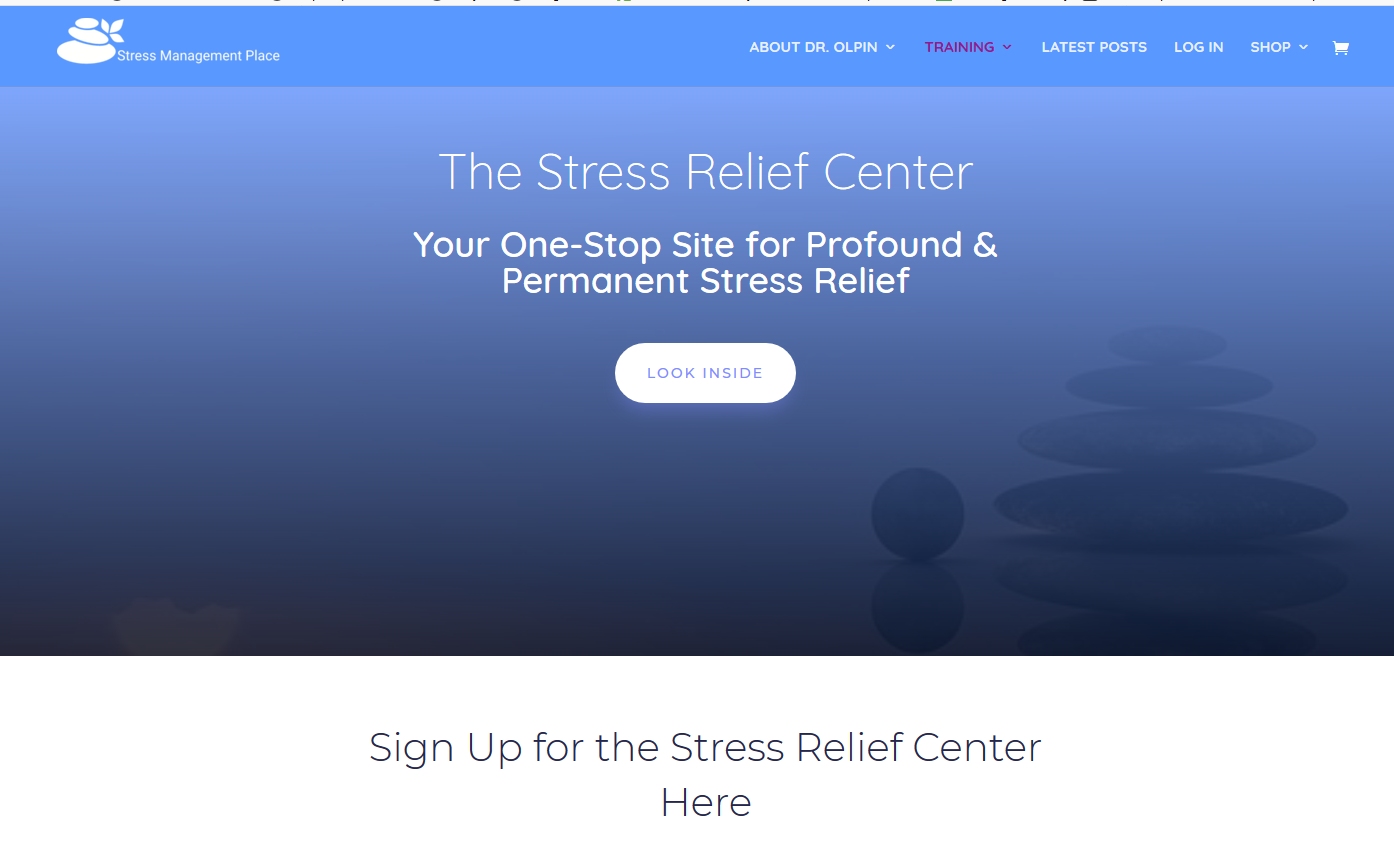 How to Access the Stress Relief Center 1