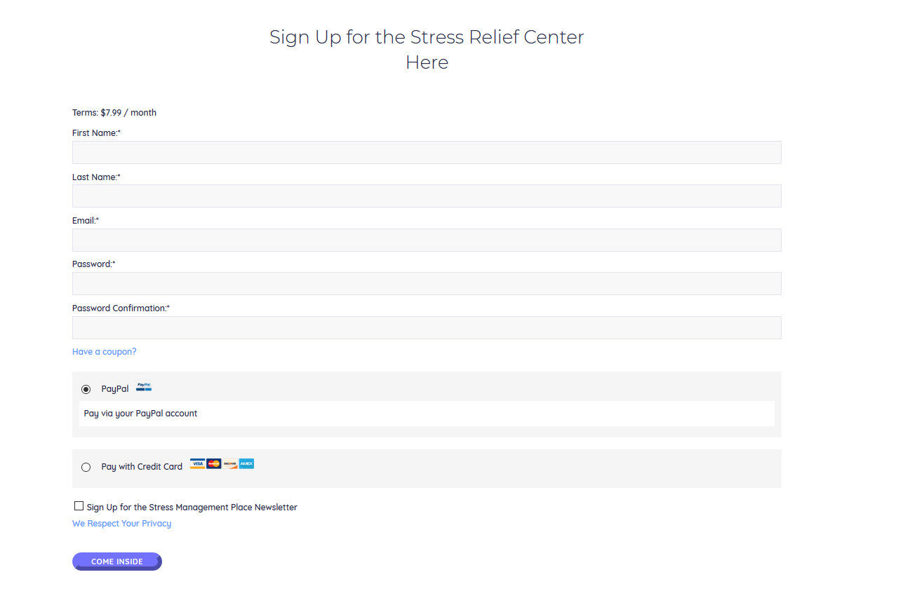 How to Access the Stress Relief Center 2