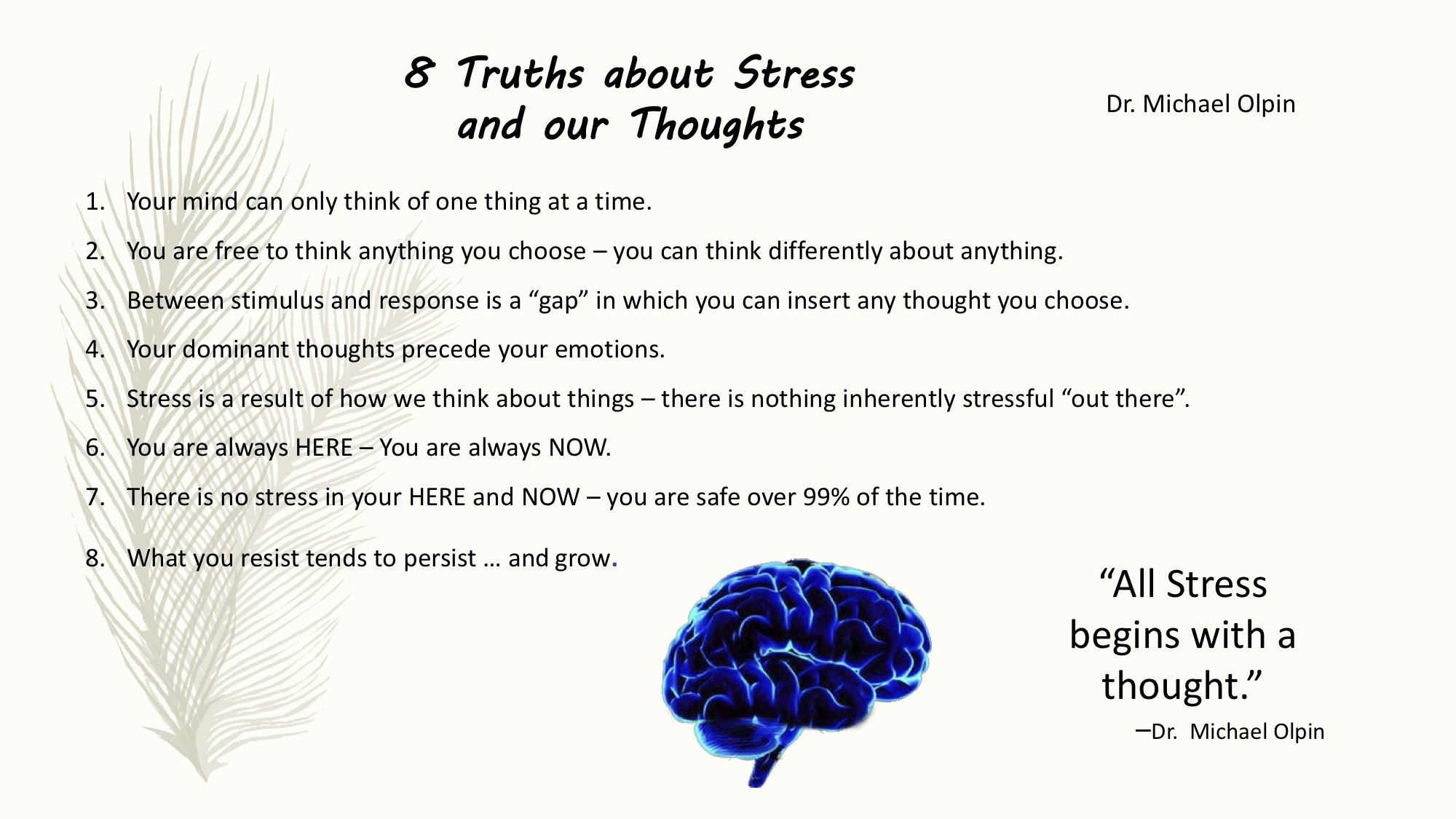 Eight truths about stress